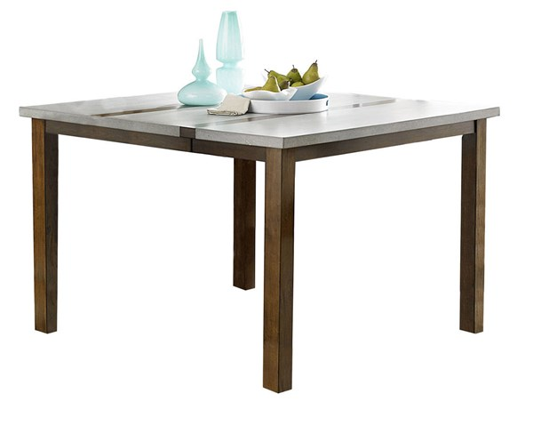 Cascade Transitional Nutmeg Cement Wood MDF Counter Dining Table PRG-P826-12