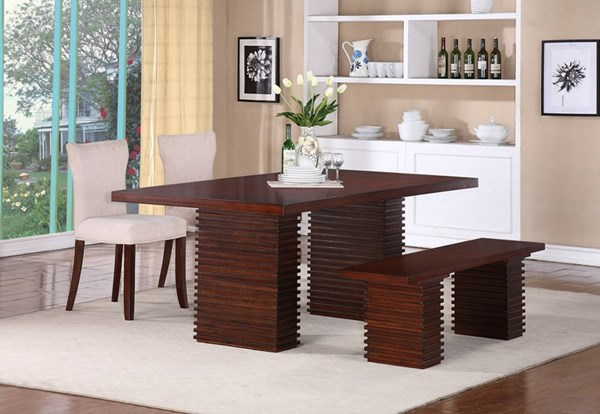 Hightower Transitional Mahogany Wood Dining Table PRG-P835-10-DT