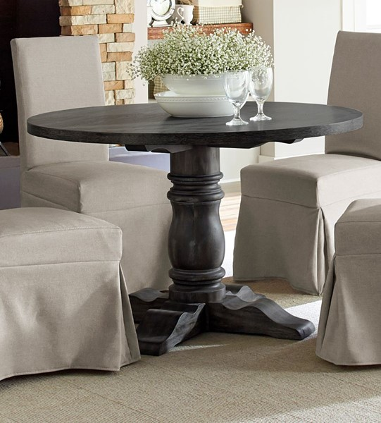 Progressive Furniture Muses Dove Grey Round Dining Table PRG-P836-13B-13T
