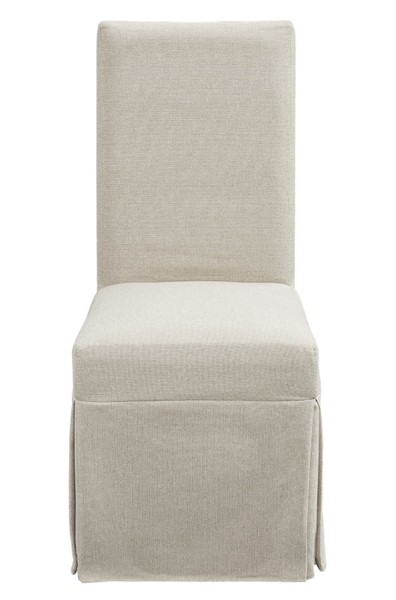 2 Progressive Furniture Muses Off White Linen Upholstered Parsons Chairs PRG-P836-60