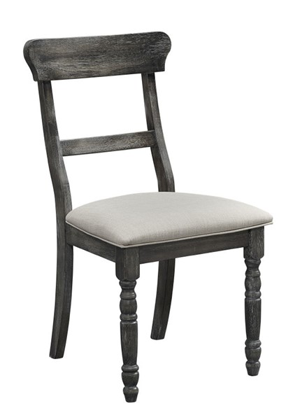 2 Progressive Furniture Muses Dove Grey Ladderback Chairs PRG-P836-61