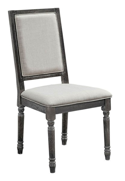 2 Progressive Furniture Muses Dove Grey Upholstered Back Chairs PRG-P836-65