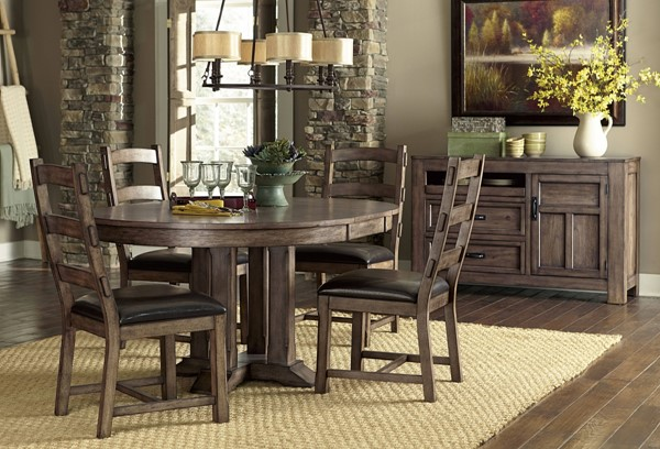 Boulder Creek Transitional Pecan Rubberwood MDF Dining Table Top PRG-P849-10T