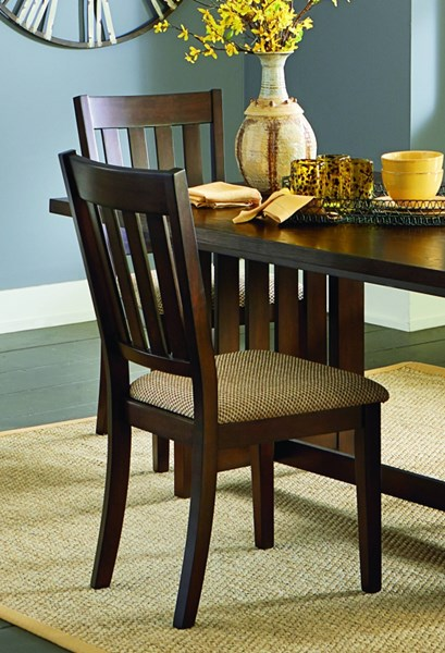 2 Kennedy Transitional Bruno Brown Rubberwood Dining Chairs PRG-P862-61