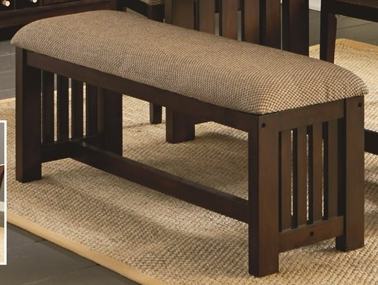 Kennedy Transitional Bruno Brown Rubberwood Dining Bench PRG-P862-69