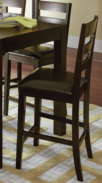 2 Amini Transitional Espresso Rubberwood MDF Ladder Counter Chairs PRG-P868-63