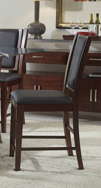 2 Avalon Transitional Sable Solidwood Counter Chairs PRG-P884-63