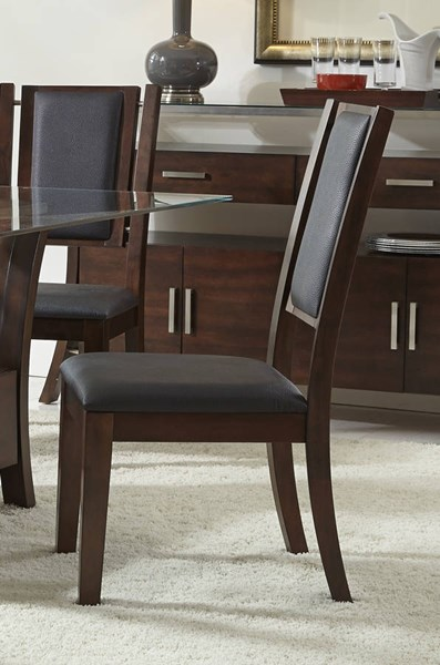 2 Avalon Transitional Sable Solidwood Dining Chairs PRG-P884-61