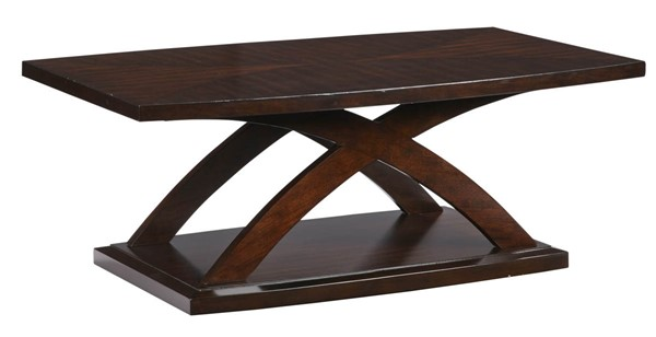 Progressive Furniture West Wind Brown Rectangular Cocktail Table PRG-T272-01