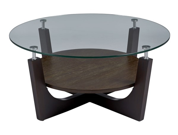 Progressive Furniture Four Points Brown Round Cocktail Table PRG-T332-01