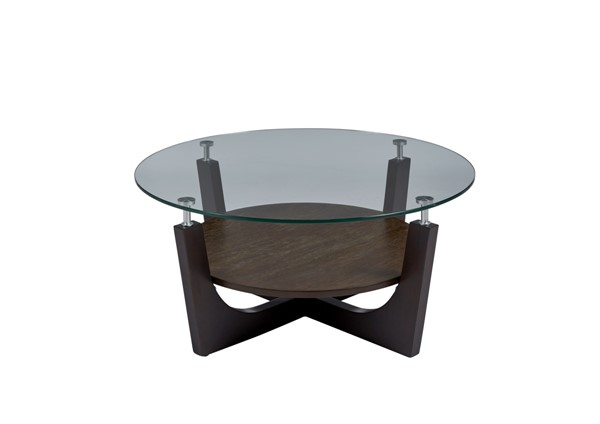 Progressive Furniture Four Points Brown 3pc Coffee Table Set PRG-T332-01-04-OCT-S1