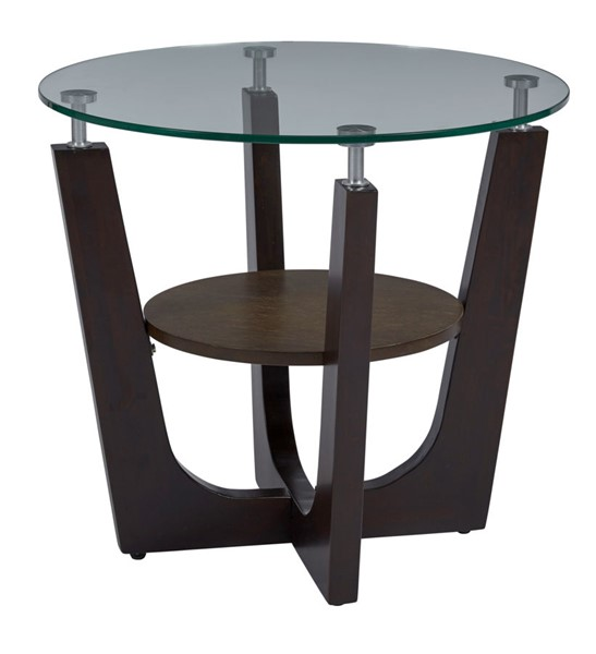 Progressive Furniture Four Points Brown Round End Table PRG-T332-04
