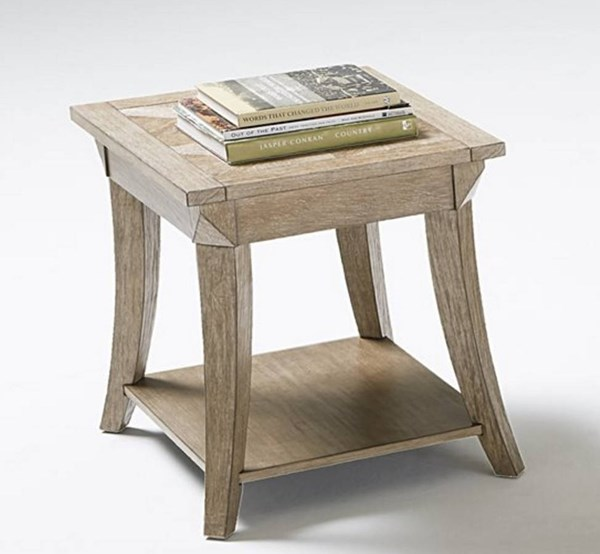 Appeal I Transitional Natural Solidwood MDF Rectangular End Table PRG-T358-04