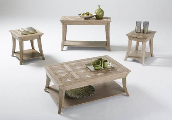 Appeal I Natural Solidwood MDF 3pc Rectangular Coffee Table Set PRG-T358-OCT-S2