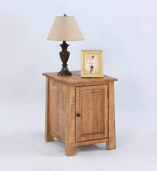 Willow Rustic Distressed Pine Solidwood Chairside Cabinets PRG-T408-ET-VAR