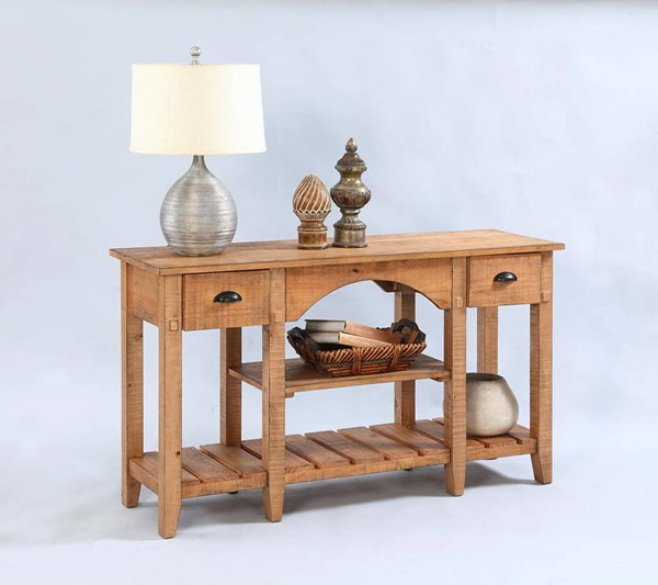 Willow Rustic Distressed Pine Solidwood Console Table PRG-T408-55