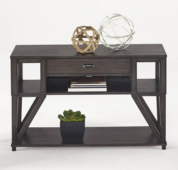 Consort Transitional Midnight Oak Solidwood MDF Sofa Console Table PRG-T425-05