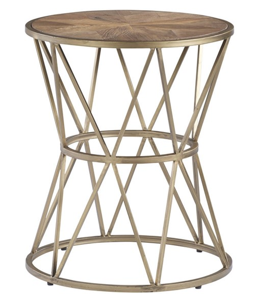 Progressive Furniture Soho Sundance Gold Round End Table PRG-T458-04