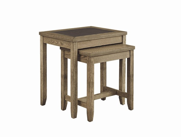 Progressive Furniture Sun Valley Tan 2pc Nesting Tables PRG-T466-06
