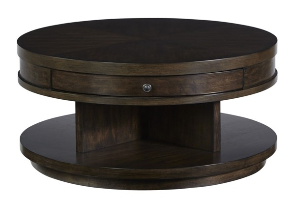 Progressive Furniture Augustine Brown Round Cocktail Table PRG-T512-01