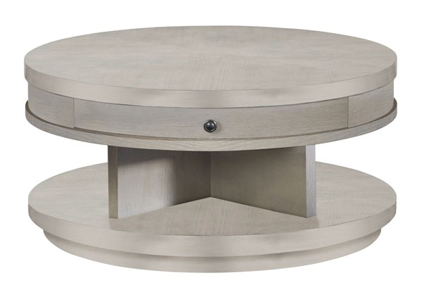 Progressive Furniture Augustine II Transitional Round Cocktail Table PRG-T513-01
