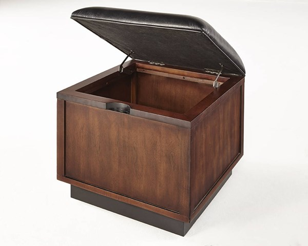 Sophisticate Contemporary Brown Solidwood Ottoman Cocktail PRG-T514-17