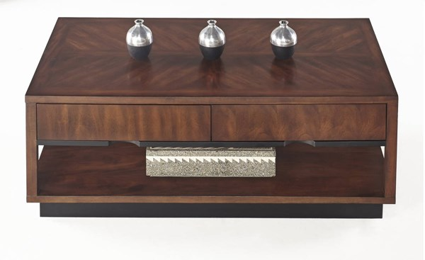 Sophisticate Contemporary Brown Solidwood Rectangular Cocktail Table PRG-T514-01