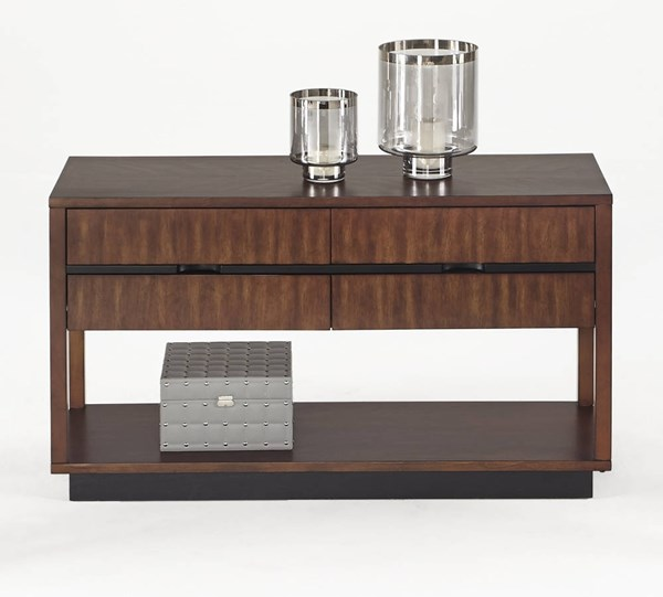 Sophisticate Contemporary Brown Solidwood Sofa Console Table PRG-T514-05