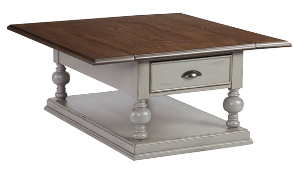 Progressive Furniture Colonnades Drop Leaf Cocktail Table PRG-T580-16