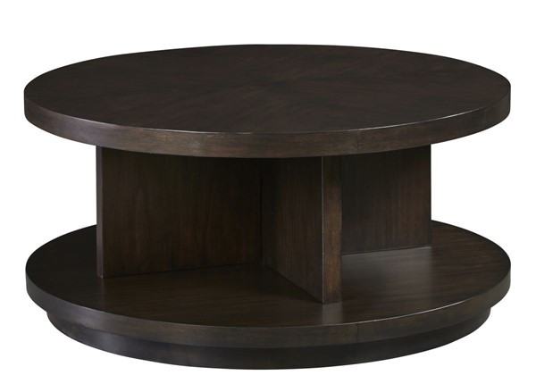 Progressive Furniture Grove Park Brown Round Cocktail Table PRG-T631-02
