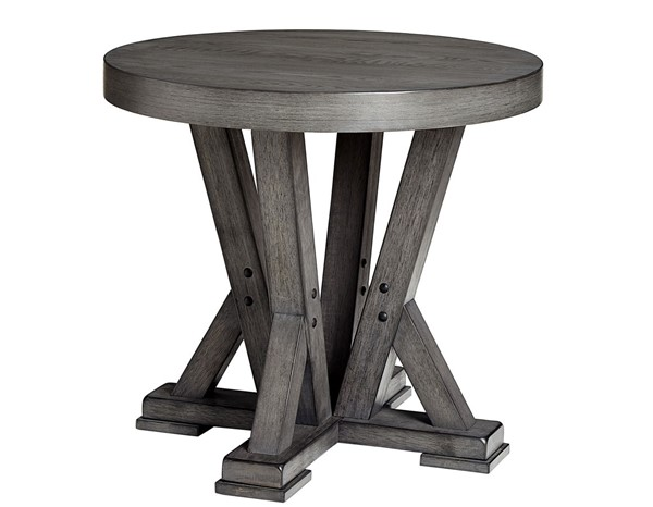 Progressive Furniture Fiji Gray Round End Table PRG-T841-06