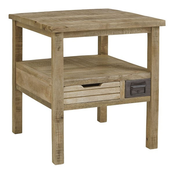 Progressive Furniture Passport Tan Natural Side Table PRG-T900-60