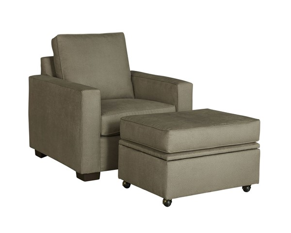 Progressive Furniture Colson Transitional Stone Chair and Ottoman Set PRG-U202-10911-CHO