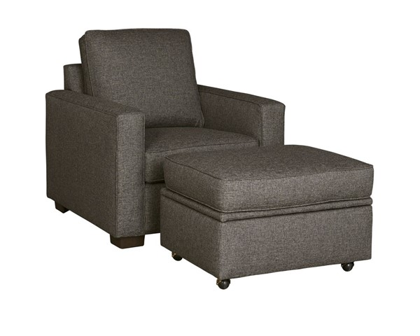 Progressive Furniture Colson Transitional Charcoal Chair and Ottoman Set PRG-U202-11518-CHO