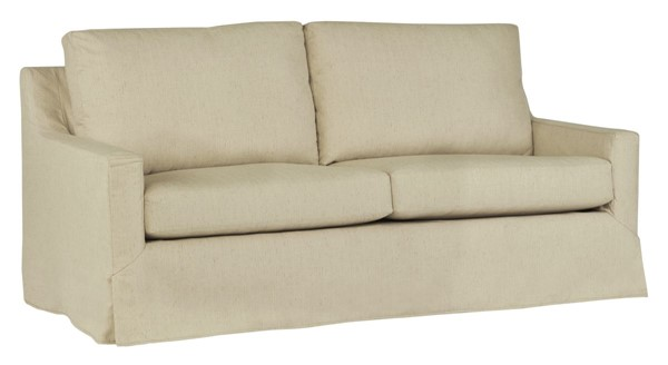 Progressive Furniture Sophie Transitional Wheat Slip Covered Sleeper Sofa PRG-U210-SQS12105