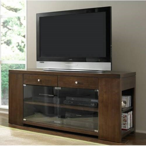 Waverly Contemporary Vintage Walnut Entertainment Console PRG-P368E-60