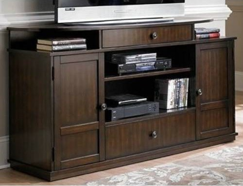 Metropolian Contemporary Dark Cherry Birch Entertainment Console PRG-P474E-60