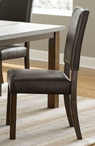 2 Cascade Transitional Nutmeg Cement Wood MDF Upholster Dining Chairs PRG-P826-62