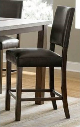 2 Cascade Transitional Nutmeg Wood MDF Upholster Counter Dining Chairs PRG-P826-64