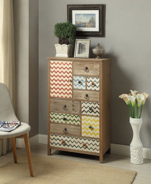 Squiggly Dee Collection Rustic Driftwood MDF High Chest PWL-111-394