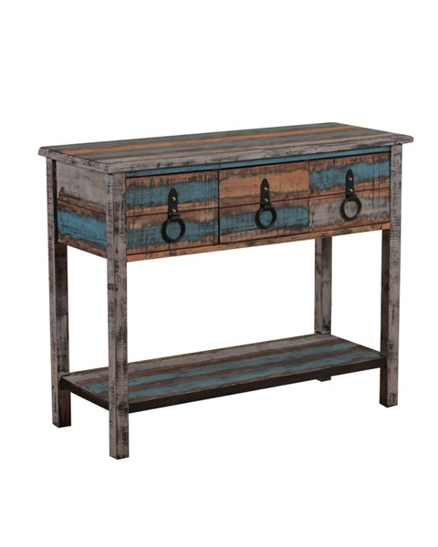 Calypso Collection Rustic Fir Wood Console Table PWL-114-225