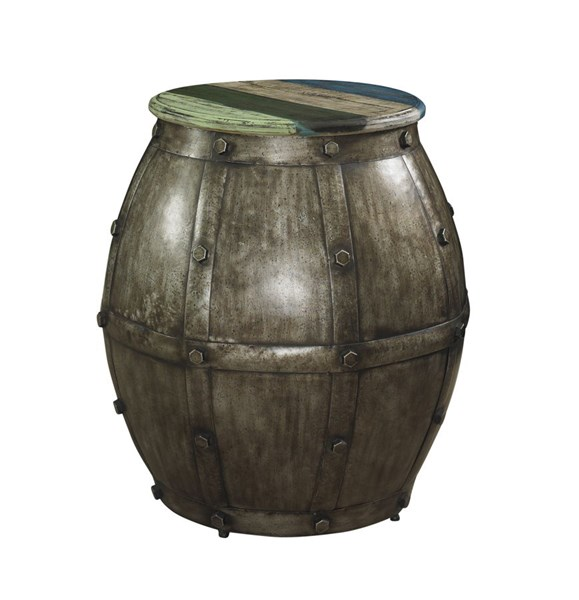 Calypso Collection Rustic Fir Wood Barrel Table PWL-114-227