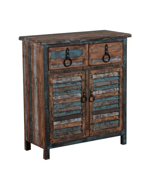 Calypso Collection Rustic Fir Wood Two Drawers and Two Doors Console PWL-114-660
