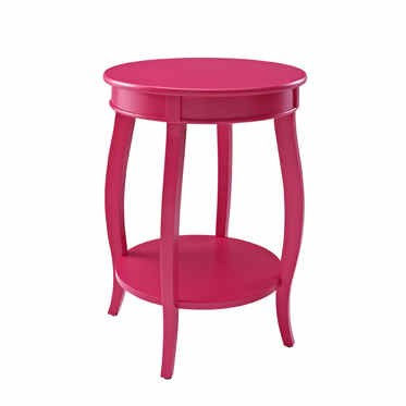 Powell Furniture Muted Red Round Table with Shelf PWL-142-350