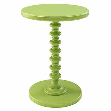 Classic Muted Green MDF Solid Wood Round Spindle Table PWL-143-269