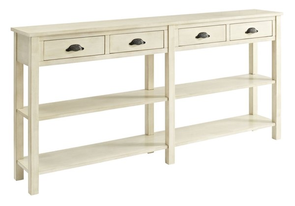 Powell Furniture Cream 4 Drawers Console PWL-149-534
