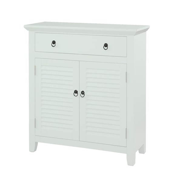 MDF White 1 Drawer & 2 Doors Rectangle Shutter Table PWL-14A2004