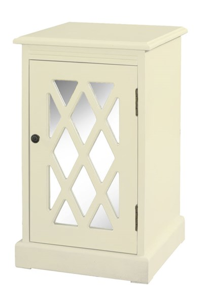 Accent White MDF Mirror Chippendale Table PWL-14A2005