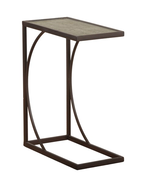 Accent Rustic Black Metal Calligraphy Sofa Table PWL-14A2013