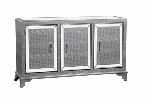 Glamour Collection Modern Silver MDF Wood Base Console Cabinet PWL-14A2019CCS